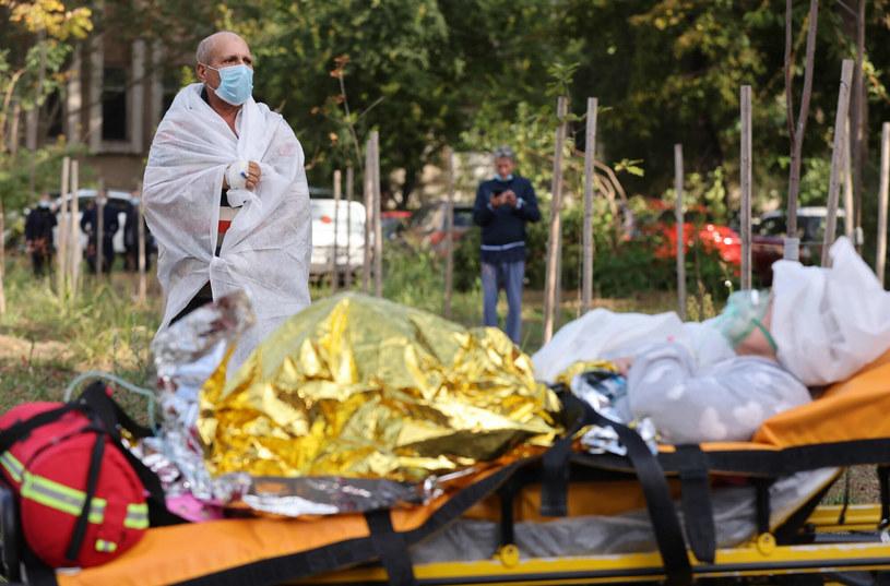 Pożar szpitala covidowego /COSTIN DINCA/AFP /East News