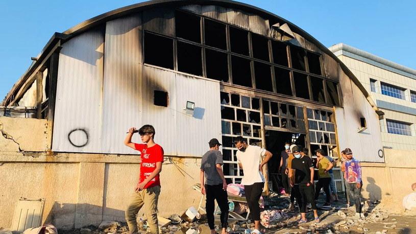 Pożar szpitala w Iraku /PAP/EPA/HAIDER AL-ASSADEE /PAP
