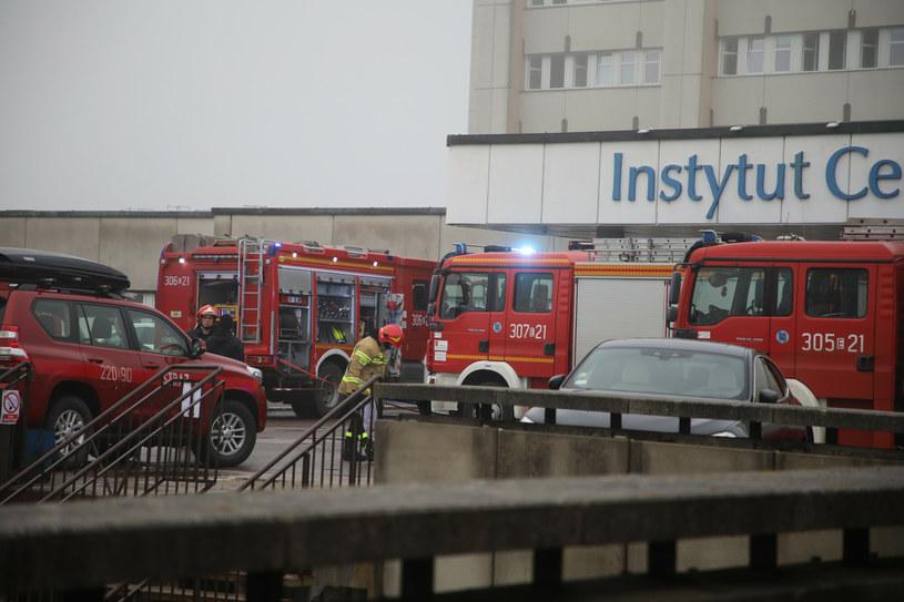Pożar szybu kablowego w budynku szpitala Instytut Centrum Zdrowia Matki Polki. /Julian Sojka/East News /East News