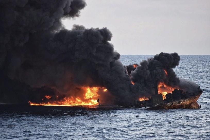Pożar tankowca Sanchi /PAP/EPA