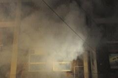 Pożar targowiska w Osinowie Dolnym