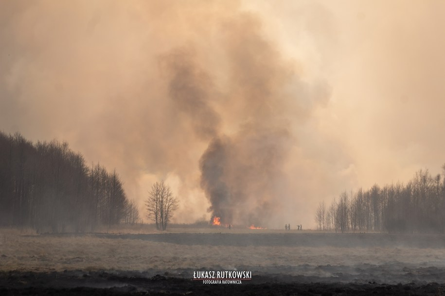 Pożar w Biebrzańskim Parku Narodowym Więcej niesamowitych zdjęć na: https://www.facebook.com/LukaszRutkowskiFotografia/ /Łukasz Rutkowski-Fotografia
