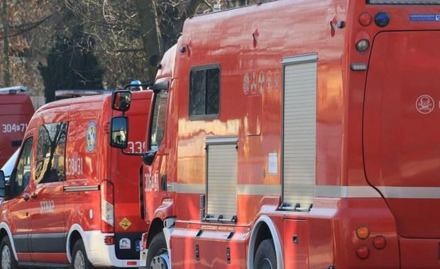 Pożar w bloku w Jaworznie. Ewakuowano 105 osób