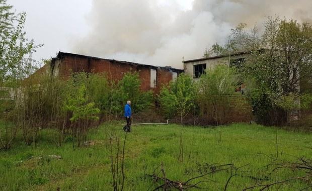 Pożar w Brzegu na Opolszczyźnie. Płonie stara cegielnia