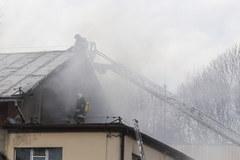 Pożar w cechowni po kopalni Anna