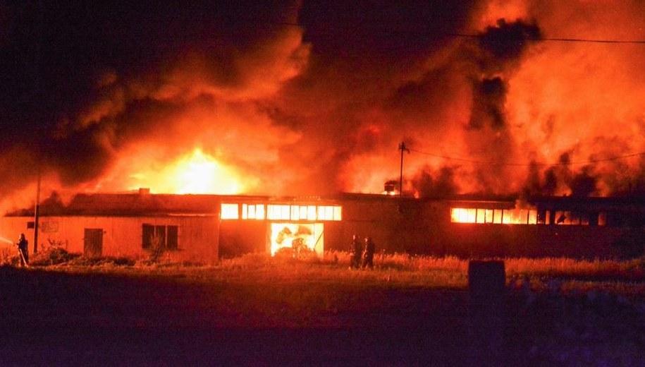 Pożar w Dąbrowie Niemodlińskiej /Gorąca Linia RMF FM /Gorąca Linia RMF FM