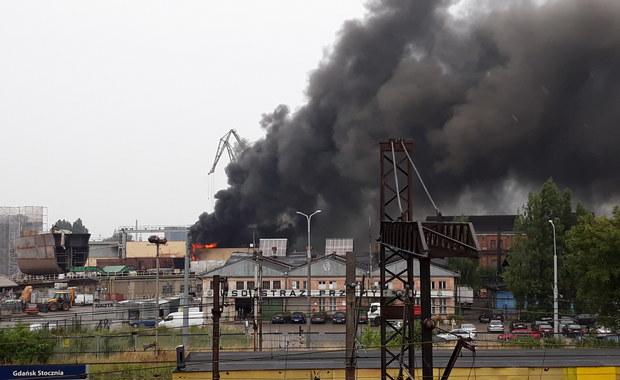 Pożar w dawnej Stoczni Gdańskiej już ugaszony