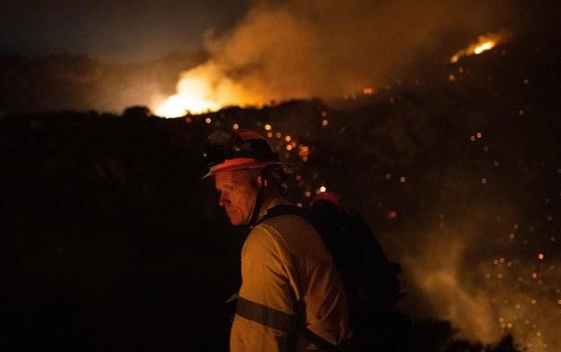 Pożar w Kalifornii /CHRISTIAN MONTERROSA /PAP/EPA