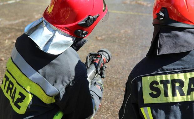 Pożar w Kaliszu. W trawie znaleziono mężczyznę z ranami kłutymi
