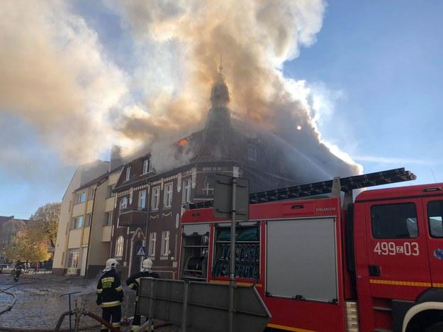 Pożar w kamienicy w Mieszkowicach /www.chojna24.pl /