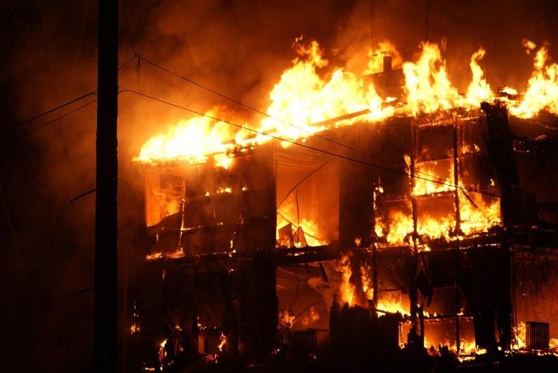 Pożar w Kamieniu Pomorskim, 2009 rok /Wojtek Basałygo /Agencja SE/East News