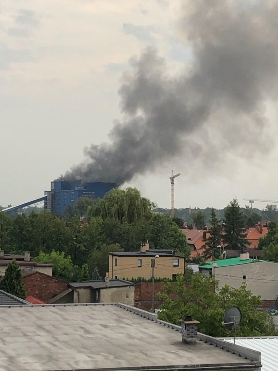 Pożar w Knurowie /Gorąca Linia RMF FM
