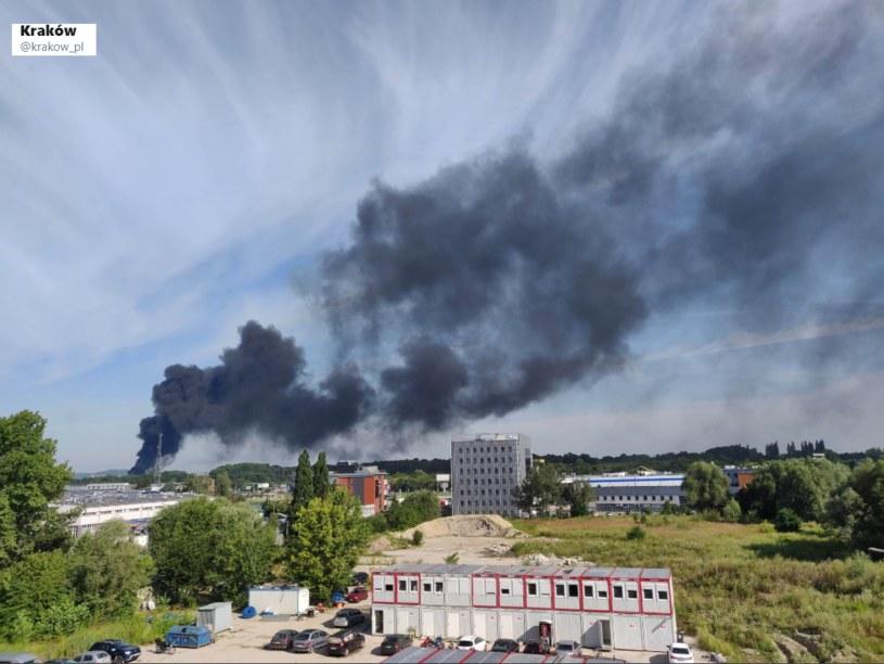 Pożar w Krakowie /Twitter