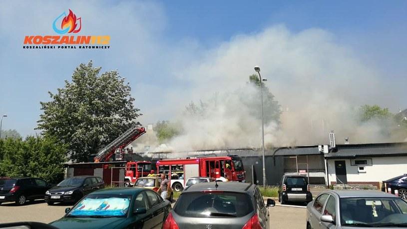Pożar w markecie przy ul. Gierczak /materiał zewnętrzny