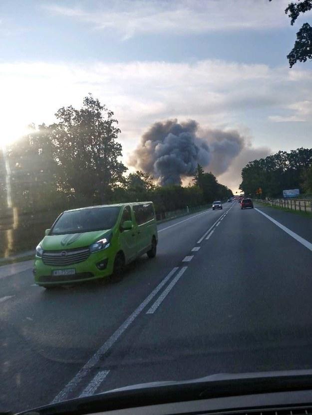 Pożar w miejscowości Konik Stary /Gorąca Linia RMF FM