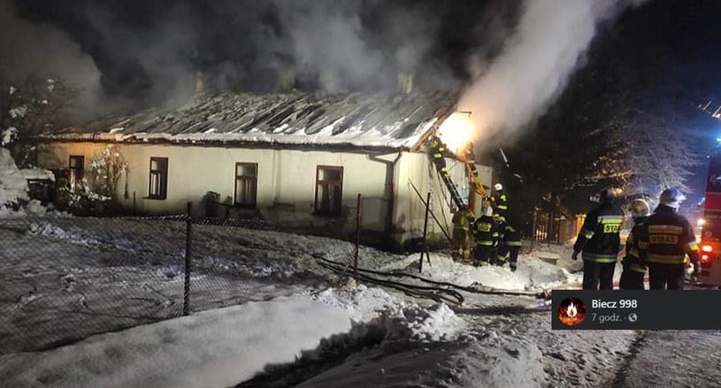 Pożar w miejscowości Lipinki /Facebook /