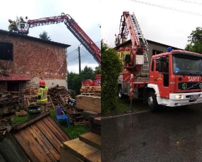 Pożar w miejscowości Orzesze (źródło: PSP w Mikołowie) /