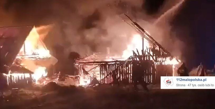Pożar w miejscowości Więciórka /Facebook /