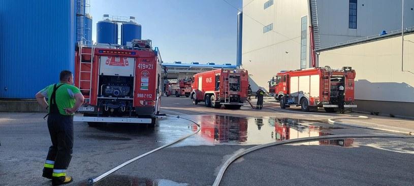 Pożar w mleczarni w Bielsku Podlaskim /OSP KSRG Augustowo /facebook.com