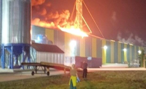 Pożar w Morągu. Płonął dach magazynu firmy stolarskiej
