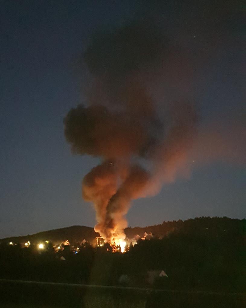 Pożar w Naprawie /Bartłomiej Mikołajczyk /INTERIA.PL