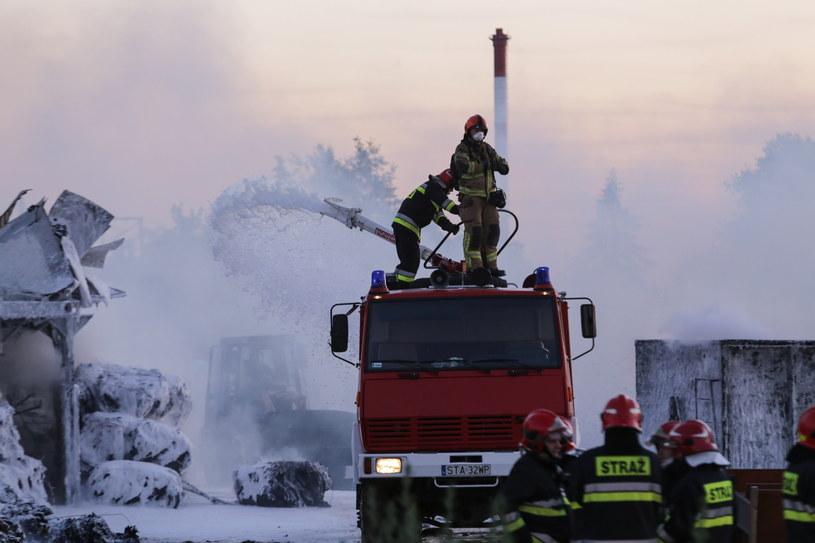 Pożar w Piekarach Śląskich /Dominik Gajda /PAP
