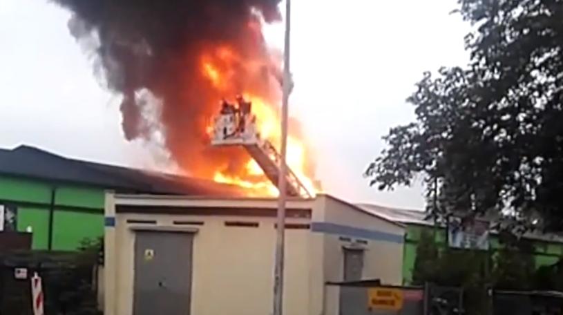 Pożar w Poznaniu /TVN24