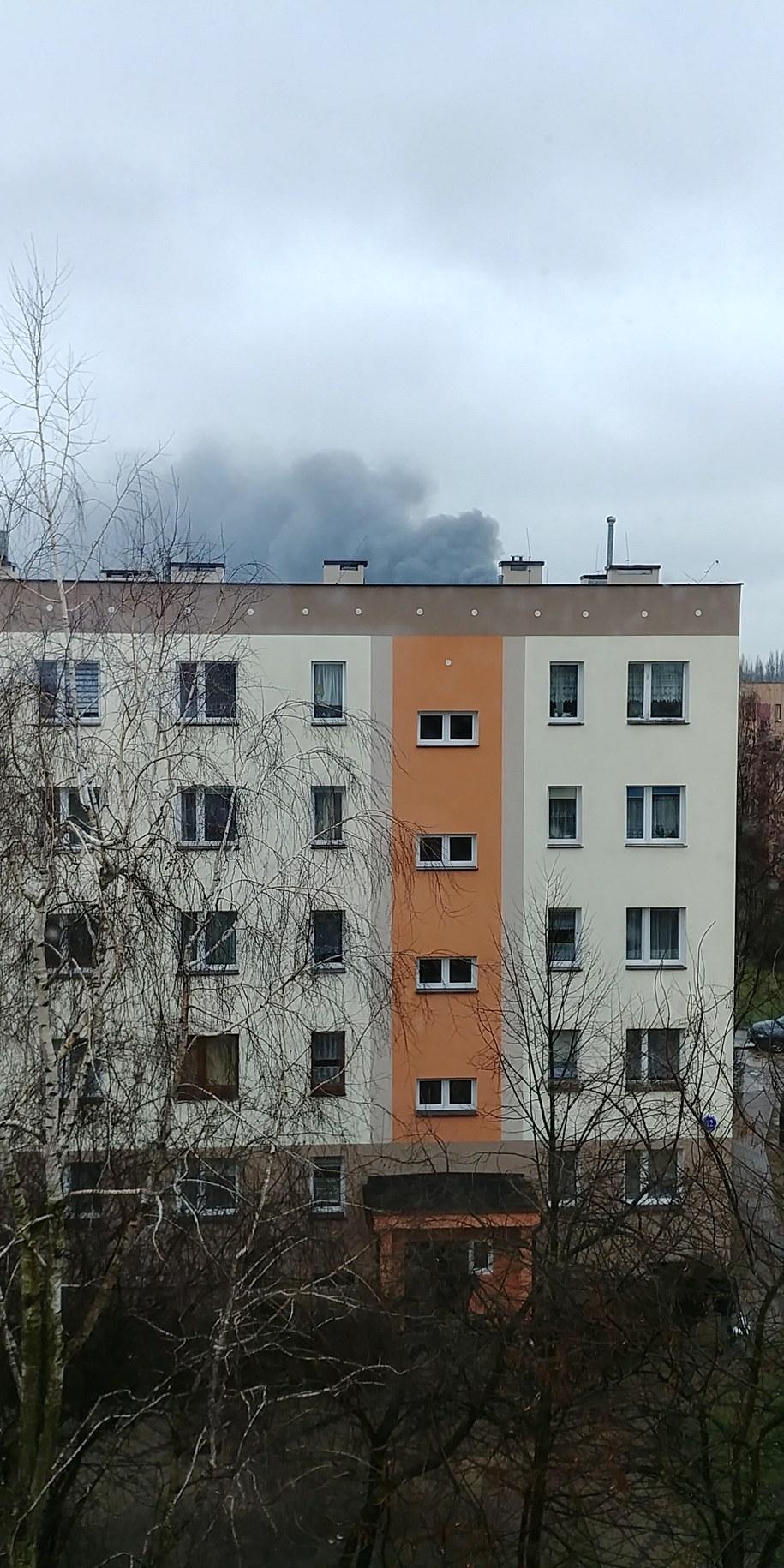 Pożar w Radomiu /Michał Słowiński /Gorąca Linia RMF FM