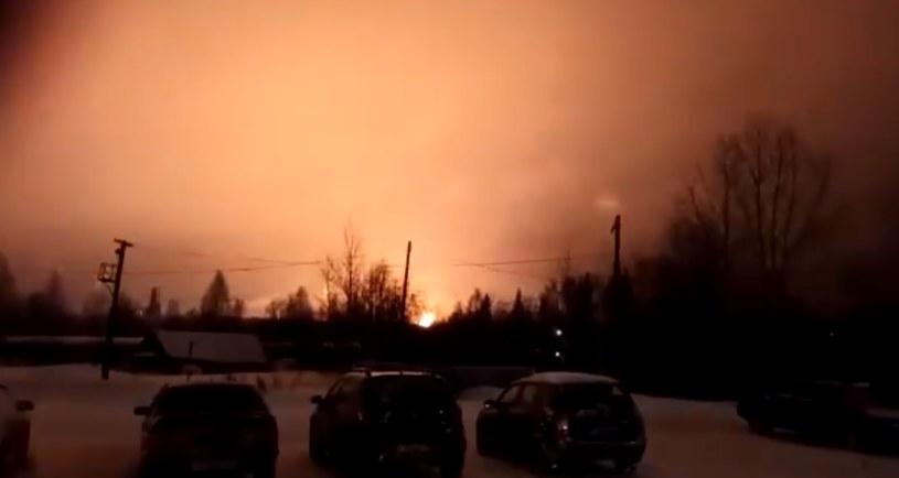 Pożar w rafinerii Łukoilu /Twitter