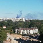 Pożar w rozlewni gazu w Krakowie