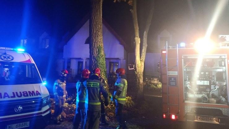 Pożar w Siennicy; Mazowiecka Straż Pożarna/Twitter /Twitter