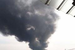 Pożar w Sosnowcu. Nad Zagłębiem i Śląskiem uniosły się kłęby czarnego dymu