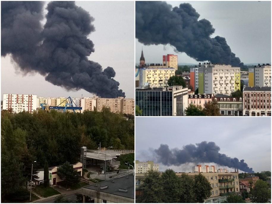 Pożar w Sosnowcu /Gorąca Linia RMF FM