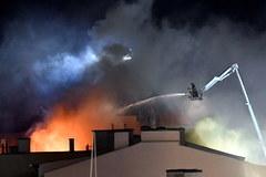 Pożar w Szczecinie. Jedna osoba ranna