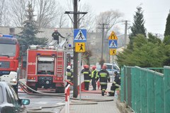 Pożar w szkole w Gorzkowicach