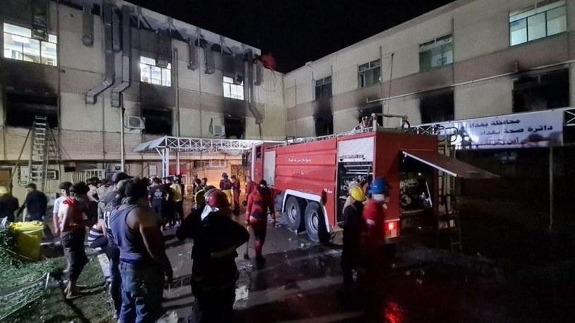 Pożar w szpitalu w Bagdadzie /Twitter