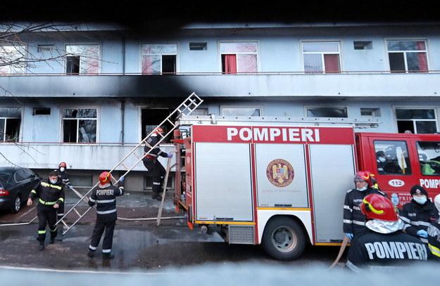 Pożar w szpitalu w Bukareszcie /ROBERT GHEMENT /PAP/EPA