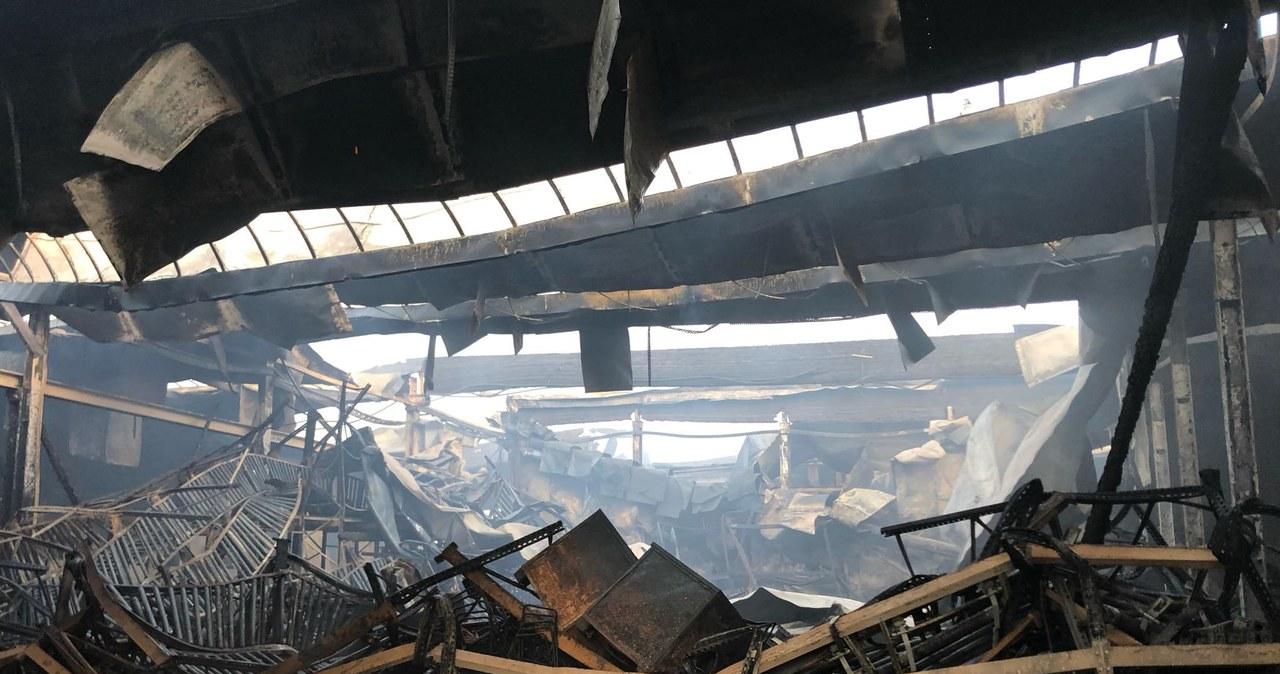 Pożar w Turku. Doszczętnie zniszczona hala zakładu meblowego