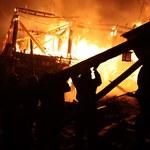 Pożar w tybetańskim starym mieście Dukezong