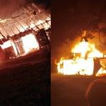 Pożar w Więciórce: Śledczy mogli trafić na ślady podpalenia. Zatrzymano mieszkańca okolicy