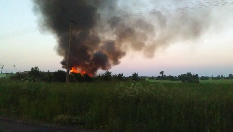 Pożar we Wszedniu /Gorąca Linia RMF FM /Gorąca Linia RMF FM