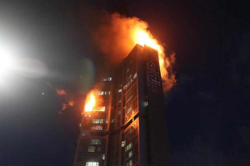 Pożar wieżowca w Ulsan /Yonhap/Associated Press /East News