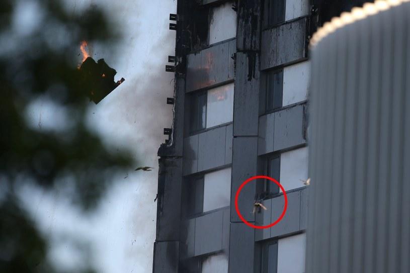 Pożar wieżowca /AFP