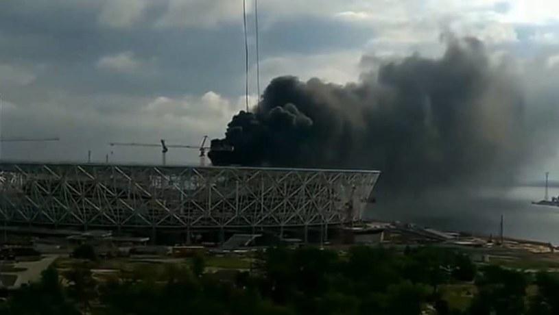 Pożar Wołgograd Areny; źródło: Twitter /