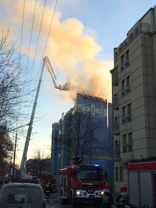 Pożar wybuchł na górnych kondygnacjach /Adam Górczewski /RMF FM