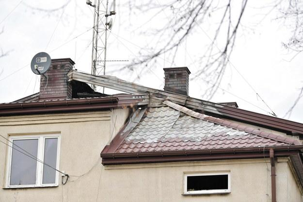 Pożar wybuchł na poddaszu /Przemysław Piątkowski /PAP