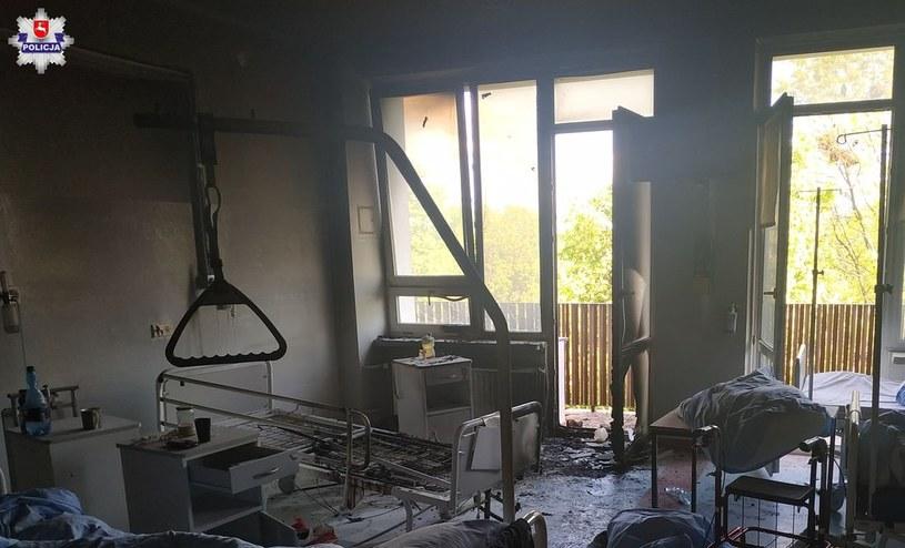 Pożar wybuchł na trzecim piętrze szpitala w Krasnymstawie /Policja Krasnystaw /Policja