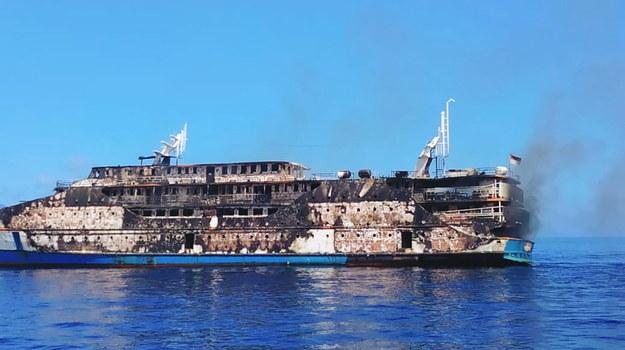 Pożar wybuchł prawdopodobnie w maszynowni /BASARNAS HANDOUT /PAP/EPA