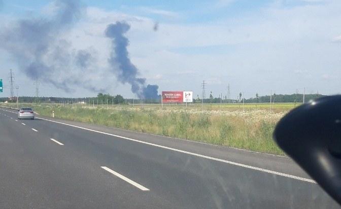 Pożar wysypiska śmieci w Lubinie /Gorąca Linia RMF FM