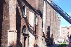 Pożar zabytkowego kościoła św. Piotra i Pawła w Gdańsku